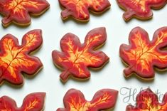 Autumn Cookies Recipe - A good recipe for cookie-cutter use as cookies do not spread while cooking.