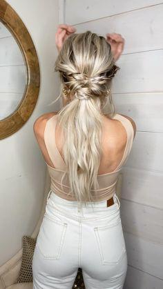 Work Hairstyles, Easy Hairstyles For Long Hair, Pretty Hairstyles, Hairdos, Medium Hair Styles, Curly Hair Styles, Hair Today, Hair Videos, Hair Looks