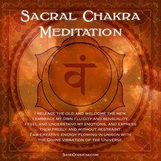 Join me for my series of chakra meditations to cleanse and align your energy centers! The Sacral Chakra hold emotional issues relating to your sense of abundance, well-being, pleasure, and sexuality. Our mantra was written to help you release old wounds, Chakra Meditation, Daily Meditation, Meditation Meaning, Meditation Prayer, Meditation Practices, Chakra Heilung, Sacral Chakra Healing, Chakra Mantra, Chakra Stones