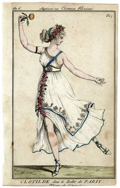 1798. Who would be this daring eh? But the dress is very pretty and worthwhile recreating.