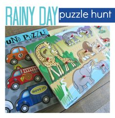 Rainy Day Activity For Kids { Puzzle Hunt }