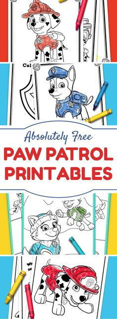 Paw Patrol Party Ideas + Printables + Indoor Activities for Kids = Top Ten FREE printables from Nickelodeon.
