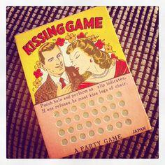 Vintage Kissing Game Punch Board