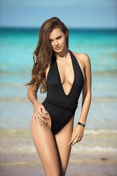 7438cf16aaa Deep V Plunge Neck Swimsuit – Tutto Il Mondo Plunging Neckline, Le Look,  Beachwear