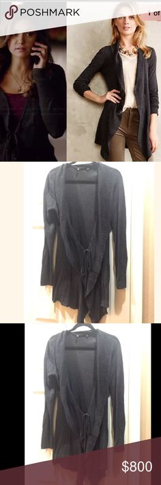 ISO Anthropologie Knitted & Knotted Lotta Ruffle ISO Anthropologie Knitted and Knotted Lotta Ruffle Wrap Cardigan Sweater in gray. Size preference is small or medium but will take a Large. If you have one or know of one please let me know! Thanks Anthropologie Sweaters Cardigans