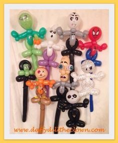 Halloween Balloon Wands