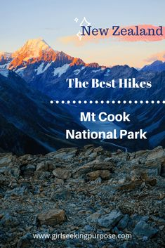 The ultimate guide to the best hikes in the Mount Cook National Park in New Zealand including Mueller Hut, Hooker Valley Track, Ball Hut Route and the Blue Lakes and Tasman Glacier Track Mount Cook, Hiking Guide, New Zealand Travel, Best Hikes, Day Hike, Australia Travel, Travel Around, Lakes, Adventure Travel