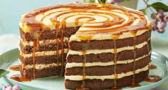 Chocolate and Salted Caramel Drizzle Cake