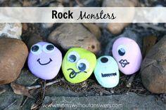 DIY Rock Monsters