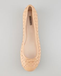 Woven Leather Ballerina Flat