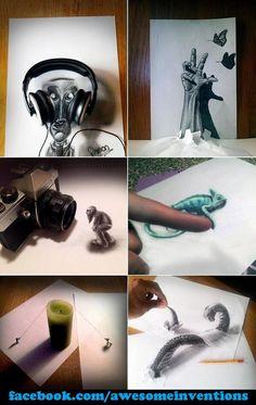 Project Idea: Trompe l'oeil 3D Drawing