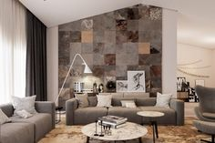 Interior Remodel for Creative Tiles Design For Living Room Living Room Wall Tiles Design Home Interior Design Ideas, you can see more pictures for Interior Remodel added on Thursday, November 2016 at Coffee Table Design. Beautiful Interior Design, Beautiful Interiors, Modern Interior Design, Interior Ideas, Wall Texture Design, Wall Tiles Design, Tiles Texture, Design Color, Room Wall Tiles