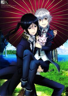 OMG!! How cute Kuroh and Shiro. (O///O) K Project #anime.