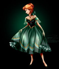 Disney Haut Couture - Cinderella by tiffanymarsou on DeviantArt Walt Disney, Cute Disney, Disney Girls, Disney Magic, Disney Frozen, Frozen Art, Frozen Anime, Anna Disney, Anna Frozen