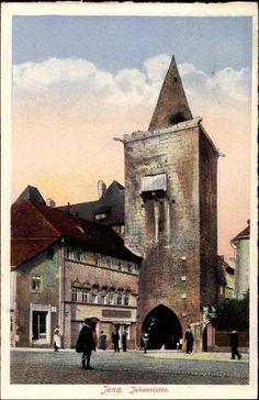 Ansichtskarte / Postkarte Jena in Thüringen, Blick auf das Johannistor…