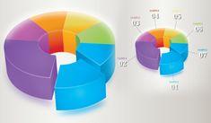Illustrator Tutorial   Graphic Design   3D Infographics (pie)