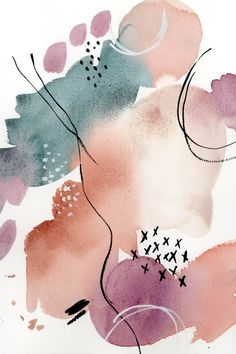 Watercolor Abstract Fine Art Painting