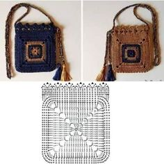 The prettiest crochet purse free pattern and tutorial – ArtofitImage gallery – Page 634866878701158046 – ArtofitCrochet Pretty Handbag with Gr - Salvabrani Diy Crochet Bag, Crotchet Bags, Crochet Pouch, Crochet Chart, Knitted Bags, Crochet Hooks, Knit Crochet, Cute Crochet, Crochet Handbags
