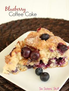 Blueberry Coffee Cake from SixSistersStuff.com