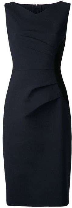 Carolina Herrera gathered side panel dress