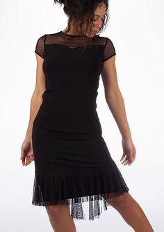 So Danca Polka Dot Mesh Skirt