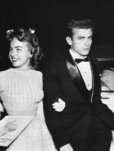 James Dean and Terry Moore at the premier of Sabrina, 1954.