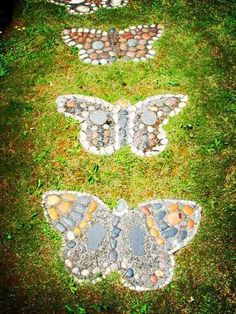 Butterfly Mosaic in Garden. Create your own Butterfly project with a Variety of…