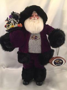Baltimore Ravens Santa Claus by DianesHeirloomSantas on Etsy