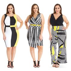 Black and white with a pop of yellow!