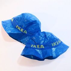 Designers are currently turning the Big Blue Bag from Ikea into fashion accessories.  It's being transformed into everything from oyster card holders, hats to complete outfits.