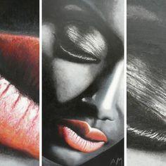Soraya Khalil © Alain Maillot  2016 Huile sur toile 100x50cm  @sorayakhalil 😘❤️ #sorayakhalil #khalil #portrait #women #blackandwhite #blackpanther #blackwhite #black #maquillage #redlips #manequin #rouge #levres #makeup #mode #singer #girlpower #internationalwomensday