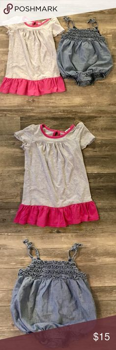 Splendid + Baby Gap Baby Girl Bundle The softest Splendid dress plus the most darling Baby Gap chambray ruffled romper. The perfect outfits for summer! Both are in EUC. Bundle two or more listings and save 20%! Splendid Dresses Casual