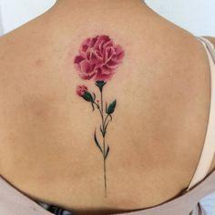 Pink Carnation Tattoo by bryan.gee