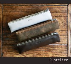 $25/each | Handmade Leather Pencil Case | Pen Pouch #leathercase #pencilcase #pencilpouch #leathergifts