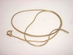 """Sterling Silver Snake Chain Necklace 15"""" #Chain"""