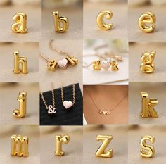 CHIC Women Gift Gold plate Letter name Initial chain Pendant Necklace DIY A-Z #New #Lover