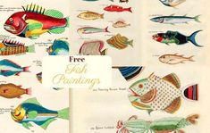 Free Printable Natural History Posters Of Adolphe Millot - Picture Box Blue - catherine Fish Artwork, Fish Paintings, Vintage Maps, Vintage Posters, Vintage Prints, Clipart Vintage, Vintage Ephemera, History Posters, Nature Posters