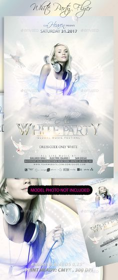 Free White And Gold Party Flyer Template Psd Flyer Templates