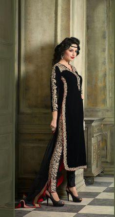Black Velvet Designer Suit