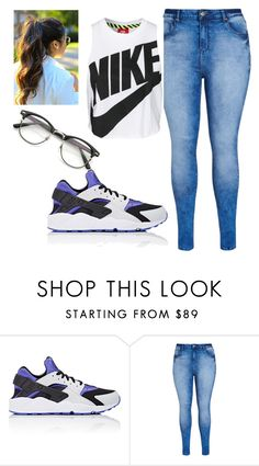 """""""Chillin'"""" by bavone05 on Polyvore featuring NIKE, City Chic and coiteandonpoint"""