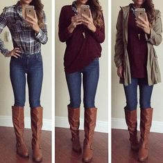 Fall Fashion Essentials Every College Girl Needs. This is a research that shows what most college women would be interested in. This i s a list of garments that are necessary to stay updated with the fall style and trend for college girls. T Stone. Fall College Outfits, College Fashion, Outfits For Teens, Casual Outfits, Estilo Rock, Fall Fashion Trends, Fashion Fashion, Fashion Ideas, Fall Trends