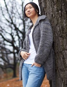 With the Easy Saturday Cardigan, you'll learn how to knit a sweater in no time at all. This beautiful sweater knitting pattern is completed entirely on straight needles, so you don't even have to learn how to knit in the round. Perfect for beginner and veteran knitters alike, it only takes time and patience to get this super stylish and amazingly comfortable knitted cardigan into your closet.