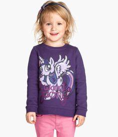 H&M Kuvallinen collegepusero koko My Little Pony, Little Girls, Hoodies, Sweatshirts, Graphic Sweatshirt, Bookmarks Kids, Hair Styles, Prints, Sweaters
