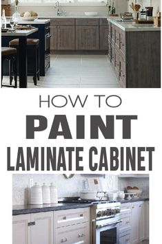 How to Paint Laminate Cabinets | Painted Furniture | Pinterest ...