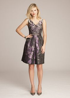 Jacquard V-Neck Dress