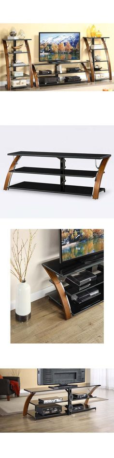 Entertainment Units TV Stands: Tv Console Table Media Stand Media Shelves Storage -> BUY IT NOW ONLY: $138.87 on eBay!