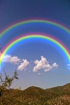Double Rainbows - note that this is photoshopped - the first rainbow is correct…