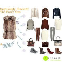 A furry vest is an unexpected but surprisingly useful add-on to your wardrobe, extending and expanding your transitional wardrobehttp://bit.ly/18Mfsou