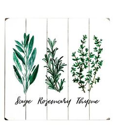 Loving this 'Sage Rosemary Thyme' Wood Wall Art on #zulily! #zulilyfinds