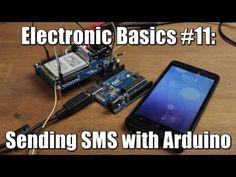 Electronic Basics #11: Sending SMS with Arduino    TC 35 GSM Module - YouTube